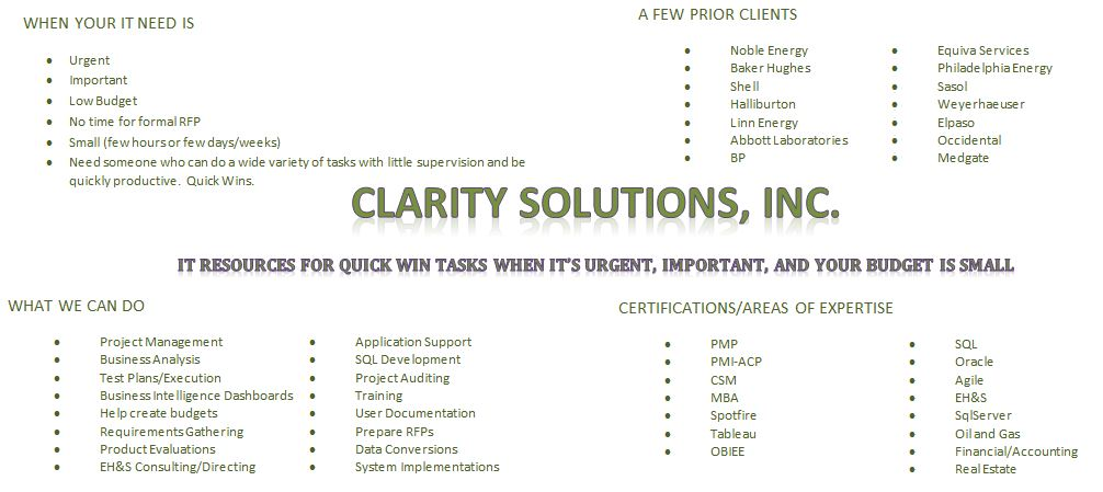 Clarity Solutions, Inc.